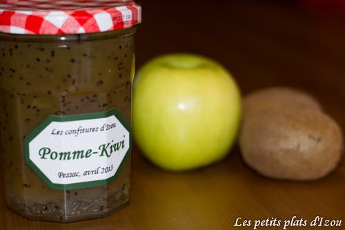 confiture kiwi pomme